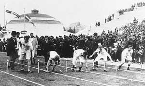history of running - the 1896 100m