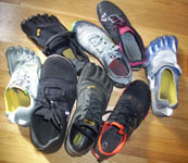 Some of our minimalist running shoes
