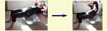stability ball exercises - crunch