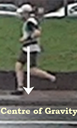 Me with a forefoot landing after transition to minimalist running (2013)