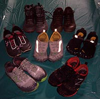Julie's collection of minimalist running shoes!