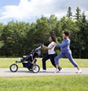 running while pregnant with a stroller